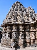 image of karnataka  - The outside of the shrines of Keshava at the 13th Century temple of Somanathapur - JPG