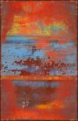 Colorful Scratched Texture With Rusty Seams Along Edges