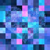 Abstract Mosaic Background With Heart