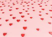 Red Hearts Valentine's Day Background.