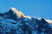 View to the Brevent mountain area of Chamonix
