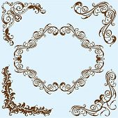 Swirl Corner Art Set