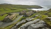 Traditional Scottish Black Houses. Garenin. Lewis Isle. Uk