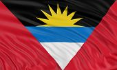 3D Antigua and Barbuda flag