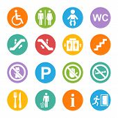 picture of internet-cafe  - Vector white public icons set with toilet - JPG