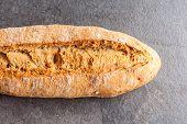 Delicious Bread On Grey Background