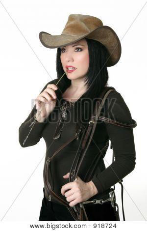 Постер, плакат: Страны женщина перевозящих уздечка, холст на подрамнике