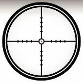 foto of crosshair  - Crosshair reticle target mark - JPG