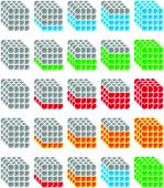 pic of indications  - Cubes made from spheres as progress or level indicators - JPG