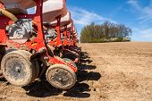 image of plowing  - Sowing and plowing action in the spring season - JPG