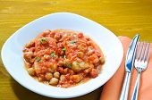 pic of cod  - Salt cod with chickpeas and tomatoes Roman - JPG