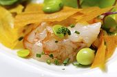 foto of scallops  - Salad with scallops and shrimp - JPG