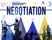foto of negotiating  - Negotiation Compromise Contract Agreement Decision Concept - JPG