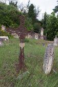 foto of graveyard  - Old graveyard in France - JPG