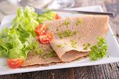 picture of crepes  - french crepe and salad - JPG