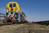 pic of chug  - Single train on a siding at the station - JPG