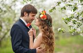 image of bow tie hair  - Wedding couple - JPG