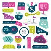 picture of bubbles  - Big Set Of Colorful Sale Stickers - JPG