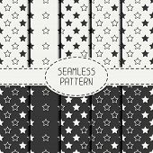 pic of starry  - Set of geometric seamless stars pattern - JPG
