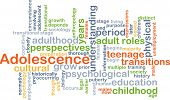 foto of adolescent  - Background concept wordcloud illustration of adolescence - JPG