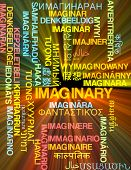 picture of imaginary  - Background concept wordcloud multilanguage international many language illustration of imaginary glowing light - JPG