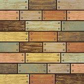 image of nail paint  - Illustration of background from shabby wooden planks with cracked color paint and nail borders - JPG
