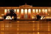 University Of Athens At Night