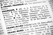 Français In The Dictionary