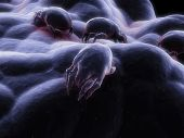foto of dust mites  - 3d rendered close up of a mite - JPG