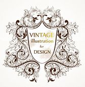 Abstract vintage illustration for design.