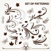 Set of vector pattern for design.