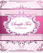 pink vector frame for design