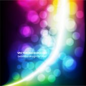 Abstract Vector Background - Colorful Transparent Lights. eps10