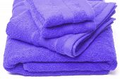 image of pima  - bath hand and wash cloth towels all cotton luxury blue - JPG
