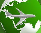 Plane Globe002