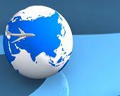 Plane Globe003