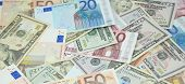 Heap Of Dollars And Euros