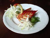 Food Decoration. Apple Bird