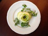 Food Decoration. Radish Rose