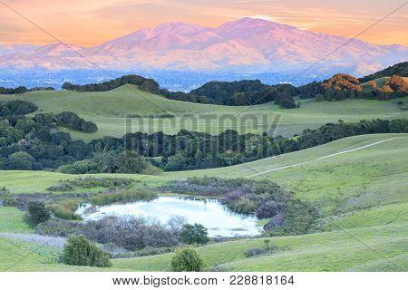 Mount Diablo Sunset As Seen