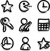 Web icons marker contour favorites