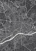 Frankfurt Am Main City Plan, Detailed Vector Map poster