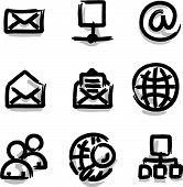 Web icons marker colour internet