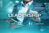 Leadership Business Management Teamwork Motivation Skills Concept. poster