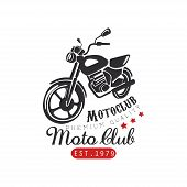 Motor Club Logo, Premium Quality 1979, Design Element For Motor Or Biker Club, Motorcycle Repair Sho poster