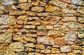 Masonry Texture, Wall Of Stones, Background For Design, Abstraction poster