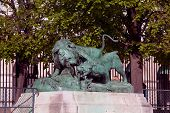 Statue from animal serie by Auguste Cain (1822-1894) in Jardin des Tuileries (The Tuileries Garden),