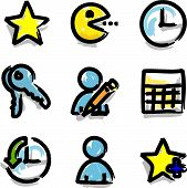 Web icons marker colour contour favorites