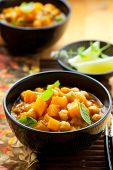 foto of indian food  - Pumpkin curry with chick - JPG