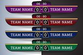 Soccer Scoreboard Digital Screen Graphic Template For Broadcasting Of Soccer, Football Or Futsal. Il poster